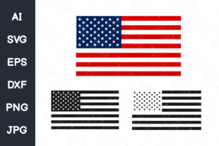 Print on Demand: American Flag Graphic Illustrations By CRStocker