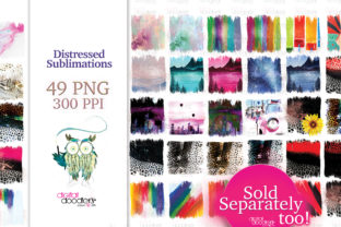 Print on Demand: Brush Strokes Sublimation Backgrounds Graphic Textures By Digital Doodlers