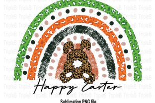 Print on Demand: Bunny Rainbow Happy Easter Sublimation Graphic Illustrations By TripleBcraft
