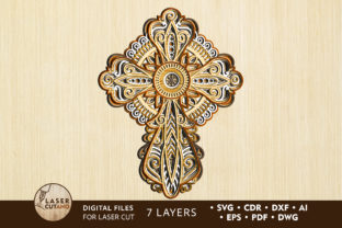 CROSS Files for Cricut, Laser Cutting Graphic Crafts By LaserCutano