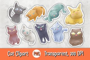 Print on Demand: Cat 01 C Clipart Graphic Illustrations By 18CC