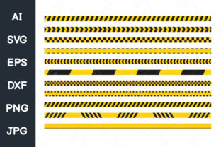 Print on Demand: Caution Tape, Warning Tape , Police Line Graphic Illustrations By CRStocker
