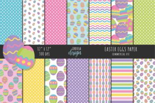 EASTER EGGS PAPER, EASTER PATTERN, SPRIN Graphic Patterns By TereVela Design