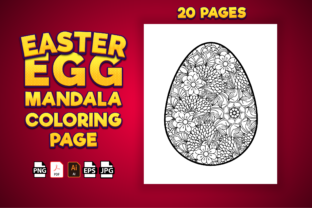 Print on Demand: Easter Egg Mandala Coloring Pages Graphic KDP Interiors By Kristy Coloring