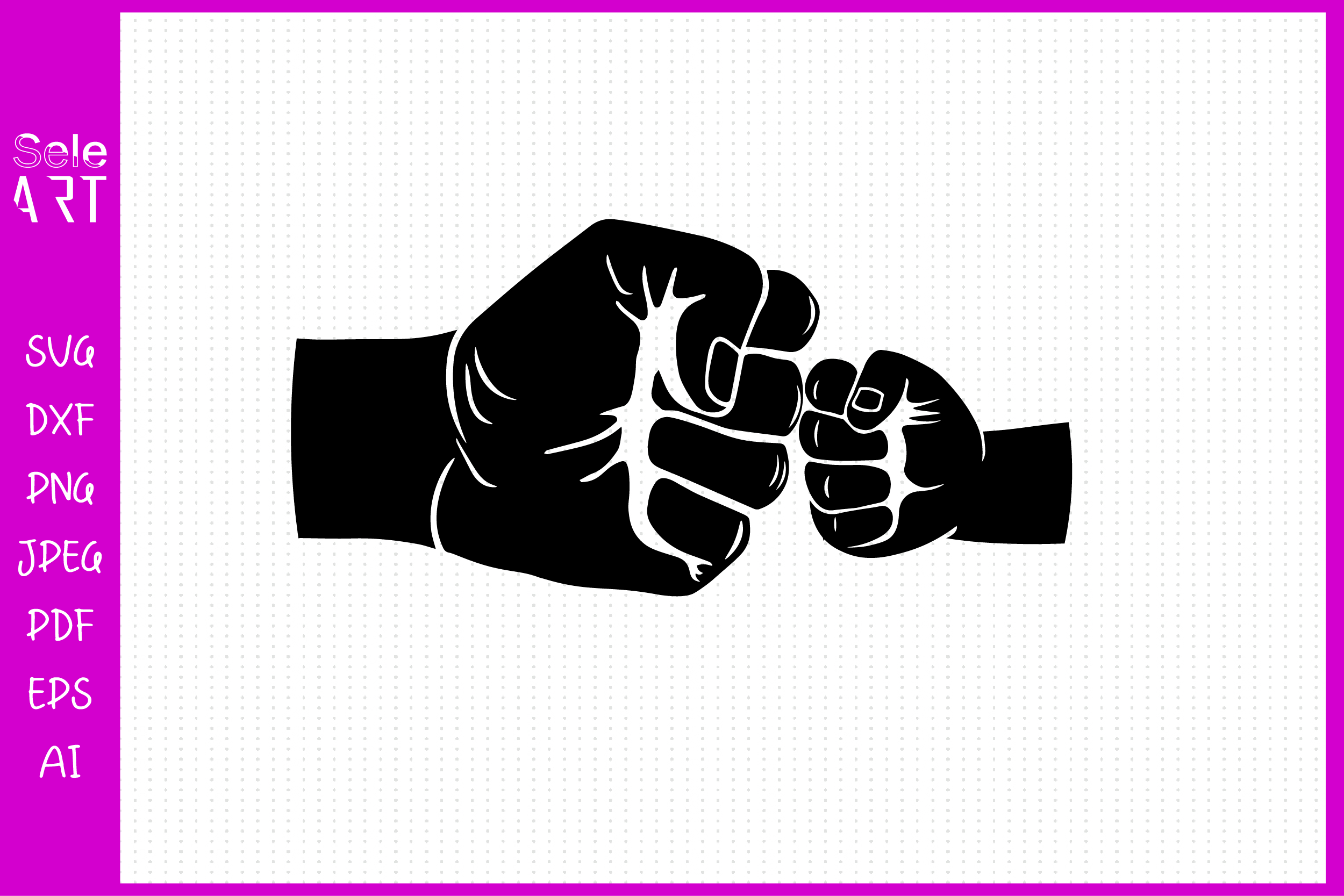Fist Bump SVG; Father and Son SVG SVG File