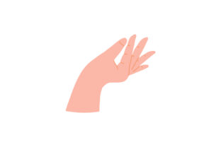 Print on Demand: Hand Holding Gestures Icon Elements Graphic Illustrations By Musbila