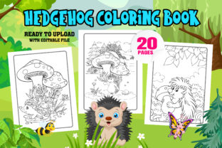 Hedgehog Coloring Page Interior for KDP Graphic Coloring Pages & Books Kids By Profit creator