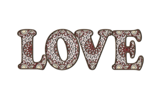 Print on Demand: Multilayer Word LOVE File for Laser Cut Graphic 3D SVG By LaserCutano 10