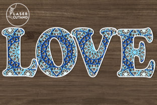 Print on Demand: Multilayer Word LOVE File for Laser Cut Graphic 3D SVG By LaserCutano 6
