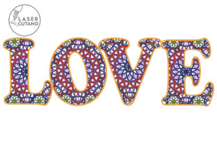 Print on Demand: Multilayer Word LOVE File for Laser Cut Graphic 3D SVG By LaserCutano 7