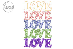 Print on Demand: Multilayer Word LOVE File for Laser Cut Graphic 3D SVG By LaserCutano 8