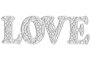 Print on Demand: Multilayer Word LOVE File for Laser Cut Graphic 3D SVG By LaserCutano 9