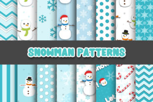 Print on Demand: Snowman Cute Digital Patterns Graphic Patterns By Grafixeo