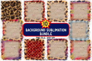 Print on Demand: Sublimation Background Clip Art Bundle Graphic Backgrounds By SineDigitalDesign