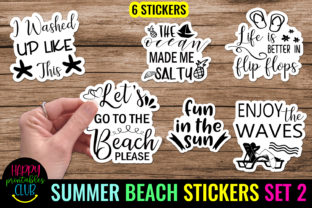 Summer Stickers Pack 2- Printable Summer Graphic Crafts By Happy Printables Club