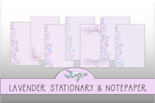 Print on Demand: Vintage Lavender Floral Stationary Graphic Print Templates By CapeAirForce