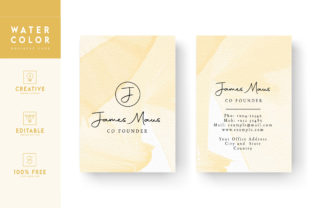 Print on Demand: Watercolor Background - Identity Card Graphic Print Templates By Riduwan Molla