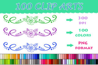 100 Dividers Clip Art Graphic Illustrations By SweetDesign