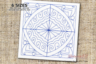 Abstract Pattern Redwork Zentangle Embroidery Design By Redwork101