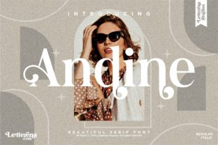Print on Demand: Andine Serif Font By letterenastudios