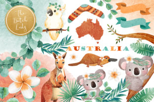 Print on Demand: Australian Friends Clipart Set Graphic Illustrations By daphnepopuliers