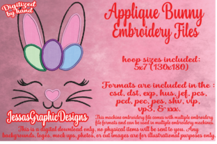 Print on Demand: Bunny Face Applique Easter Embroidery Design By JessasGraphicDesgins