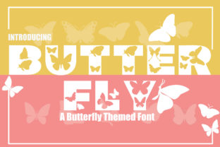 Print on Demand: Butterfly Display Font By KtwoP