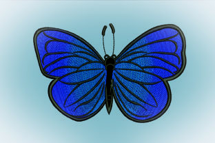 Print on Demand: Butterfly Gradation Bugs & Insects Embroidery Design By Samsul Huda