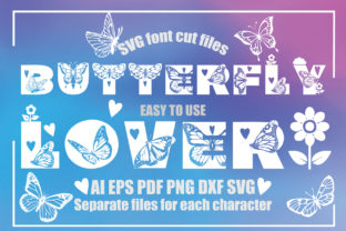 Print on Demand: Butterfly Lover SVG Font Cut Files Graphic Crafts By KtwoP