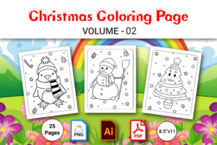 Christmas Coloring Book for Kids Vol.2 Graphic Coloring Pages & Books Kids By MRcolor Graph