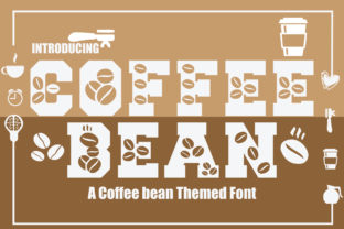 Print on Demand: Coffee Bean Decorative Font By KtwoP