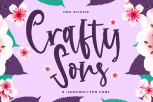 Print on Demand: Crafty Sons Script & Handwritten Font By Fallengraphic