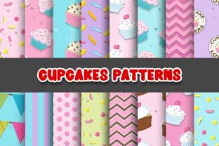 Print on Demand: Cupcake Digital Papers Patterns Graphic Patterns By Grafixeo