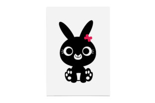 Print on Demand: Cute Easter Bunny with Flower on Graphic Crafts By CarryBeautySVG