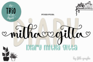 Print on Demand: Diary Mithagitta Script & Handwritten Font By Fillo Graphic
