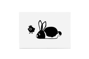 Print on Demand: Easter Bunny with Chick, Cute Graphic Crafts By CarryBeautySVG