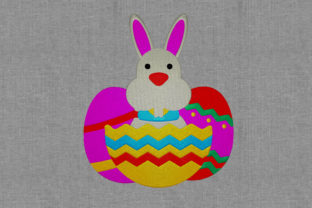 Easter Bunny with Eggs Easter Embroidery Design By Digital Creations Art Studio