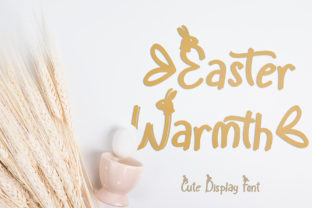 Print on Demand: Easter Warmth Display Font By yogaletter6