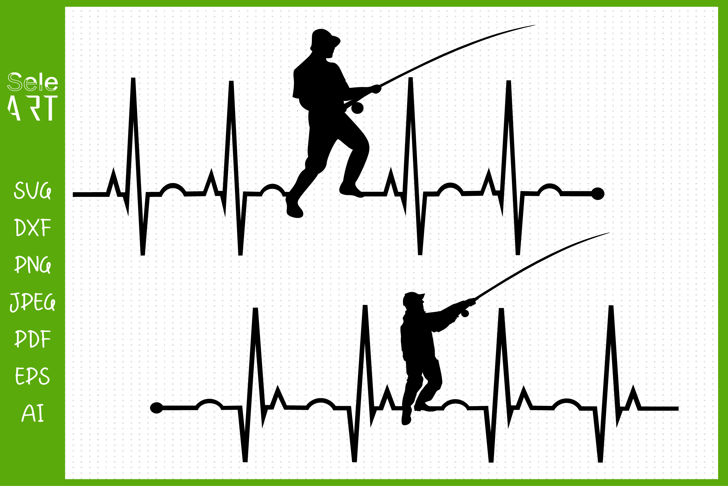 Download Fishing Heartbeat Svg Fisherman Ekg Svg Graphic By Seleart Creative Fabrica