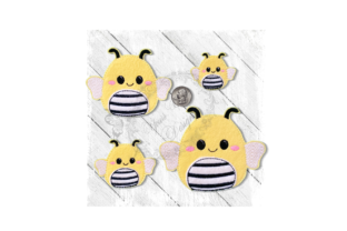 Fluffy Friend Bee Bugs & Insects Embroidery Design By Yours Truly Designs