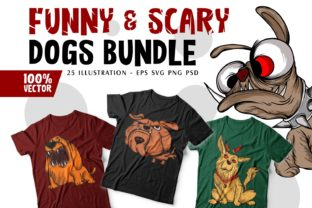 Print on Demand: Funny and Scary Dogs Cartoon Collection Graphic Illustrations By Universtock