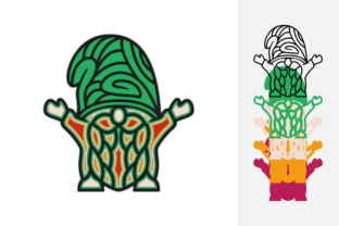 Print on Demand: Gnomes Multilayer Graphic 3D SVG By MSTD