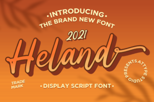 Print on Demand: Heland Script & Handwritten Font By attypestudio