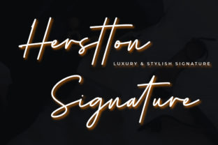 Print on Demand: Herstton Signature Script & Handwritten Font By Cherryline Master