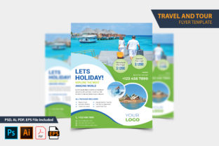 Holyday Tour Flyer Design Template Graphic Print Templates By Graphic Stock
