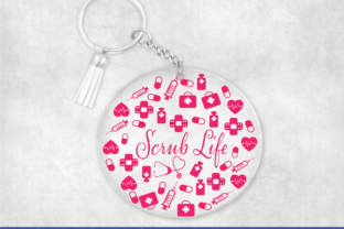 Print on Demand: Keychain Scrub Life Graphic Graphic Templates By Sofiamastery