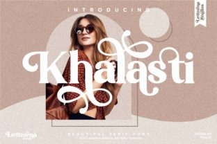 Print on Demand: Khalasti Serif Font By letterenastudios