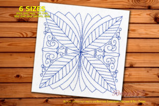 Leaf Pattern Redwork Paisley Embroidery Design By Redwork101