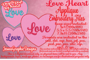 Print on Demand: Love Heart Applique Intricate Cuts Embroidery Design By JessasGraphicDesgins