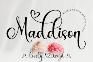 Print on Demand: Maddison Script & Handwritten Font By Typesthetic Studio